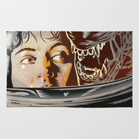 movie poster Area & Throw Rugs featuring Alien - Movie  Poster by Francesco Dibattista