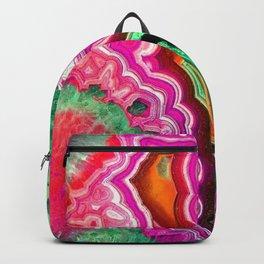 Unicorn Candy Quartz Crystal Agate Backpack