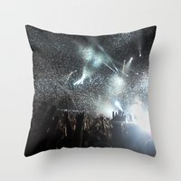 concert Throw Pillows featuring Concert by Anna Mundy