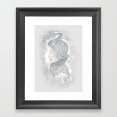 The waterfall of Subconsciousness Framed Art Print