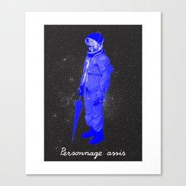 BOLO 1 personnage assis Canvas Print