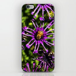 Bee and the Purple Flower iPhone Skin