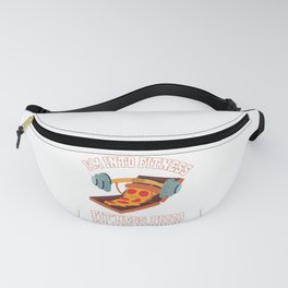 Funny I'm Into Fitness Pizza in My Mouth Fanny Pack