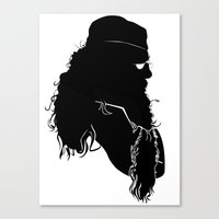 dumbledore Canvas Prints featuring Dumbledore - Standard Silhouette by GTRichardson