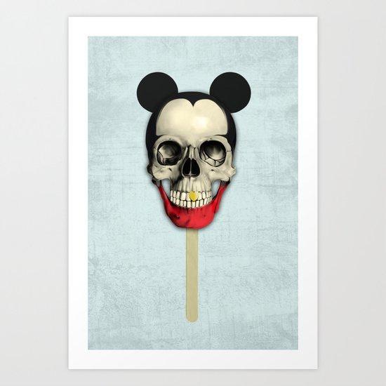 Mick pop Art Print