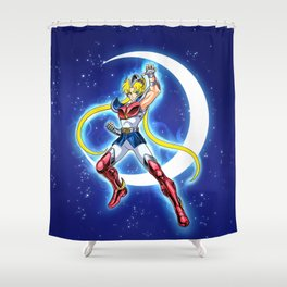 Caballero de la Luna Shower Curtain