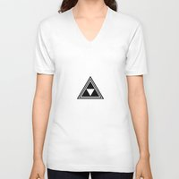 triforce V-neck T-shirts featuring triforce by Black