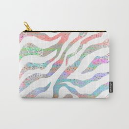 colorful zebra pattern Carry-All Pouch