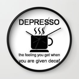 Depresso Wall Clock