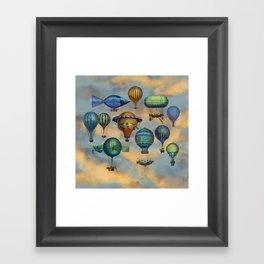 Aviation Flotation Framed Art Print