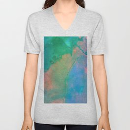 Abstract Coloful Waves Unisex V-Neck