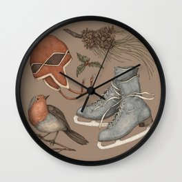 Winter Collection Wall Clock