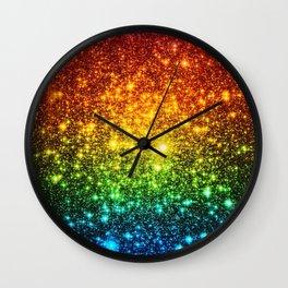 RainBoW Sparkle Stars Wall Clock