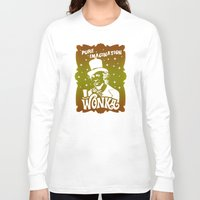 willy wonka Long Sleeve T-shirts featuring Gold Ticket by Buby87
