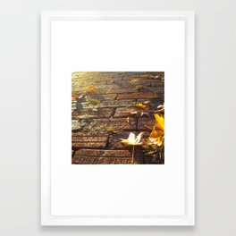 Athens Block Framed Art Print