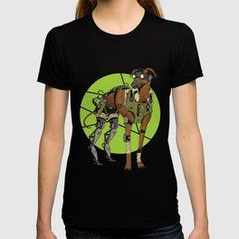 Greyhound Dog Cyborg T-shirt