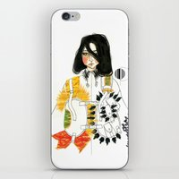 soldier iPhone & iPod Skins featuring Soldier by Dunia Design