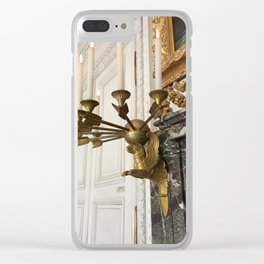 Gilded Nonsense #3: Golden Griffin Clear iPhone Case