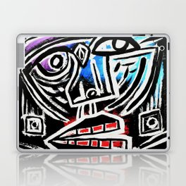"""""""Excuse me?"""" Abstract Face Painting Laptop & iPad Skin"""