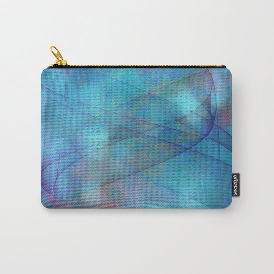 Blue tornado with fairy lights Carry-All Pouch