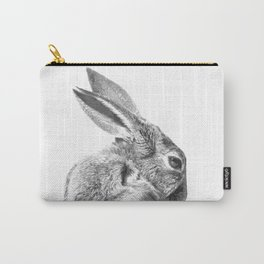 Black and white rabbit Carry-All Pouch