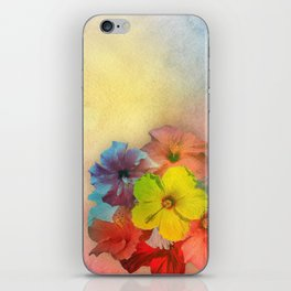 Colorful Hibiscus Bouquet iPhone Skin