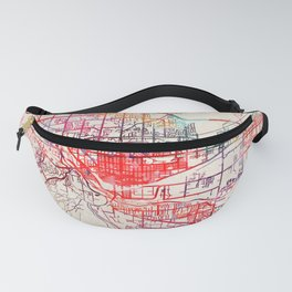 Grand Junction map Colorado CO Fanny Pack