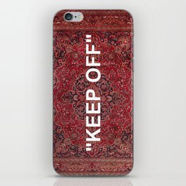 """keep off"" antique persian rug iPhone Skin"