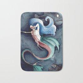 Study of Mermaid Anatomy Bath Mat