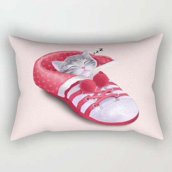 Cat in the Shoe Rectangular Pillow