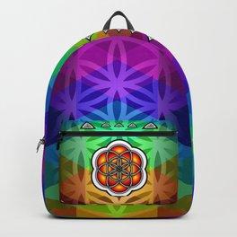Seed of life rainbow backpack Backpack