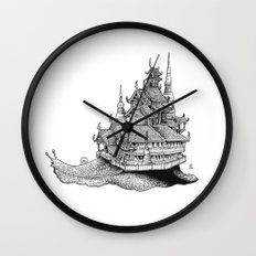 Snail Temple Wall Clock