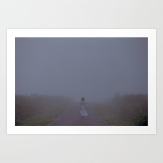 over and through Art Print