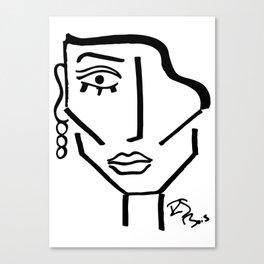 Faire Visage No 72 Canvas Print