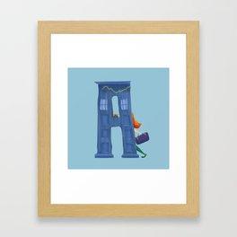 A for Amy Pond Framed Art Print