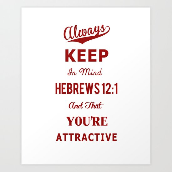 Hebrews 12:1 Art Print
