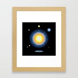 Alien Sun Disc Framed Art Print
