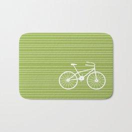 Green Bike Bath Mat