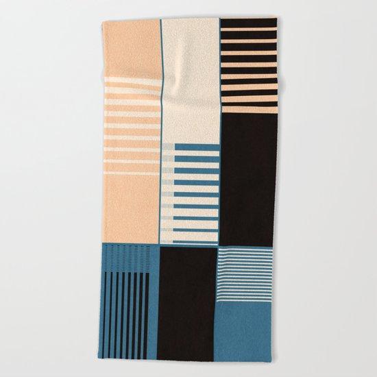 Lines #6 Beach Towel