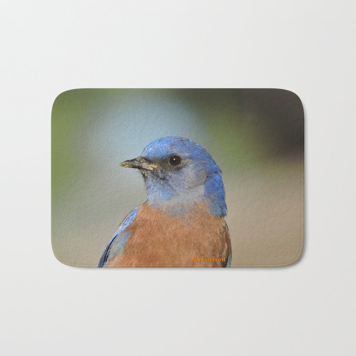 Bluebird in La Verne Bath Mat