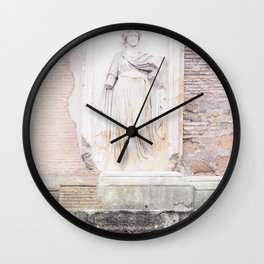 Minerva Temple - Rome Forum Architecture Photography Wall Clock