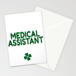 Luckiest Medical Assistant Ever St. Patricks Day Lucky Irish Stationery Cards
