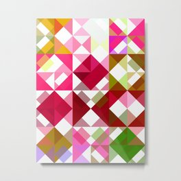 Crape Myrtle Abstract Triangles 1 Metal Print