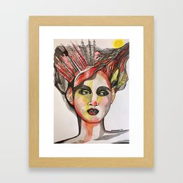 Woman and the Woods Framed Art Print