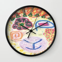 Gretchen, sheep art Wall Clock