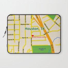 Map of Houston TX #2 Laptop Sleeve