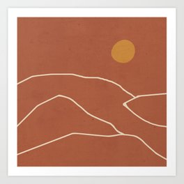 Minimal Abstract Art Landscape 2 Art Print