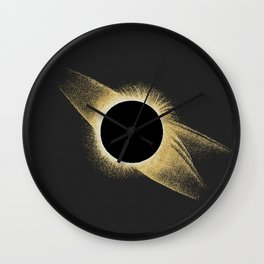 Total Solar Eclipse 1878 | Vintage Astronomy Illustration Wall Clock