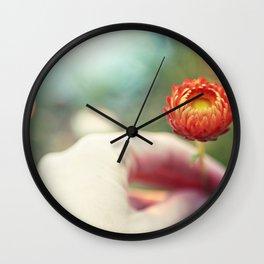 Everlasting Strawflower Wall Clock