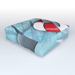 Manatee in a Swim Ring Outdoor Floor Cushion